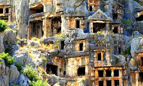 Hillside Lycian tombs